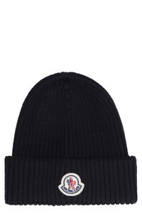 Wool hat with beanie, Hats Moncler man