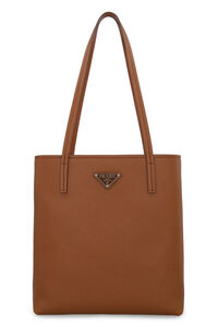 Leather tote, Tote bags Prada woman