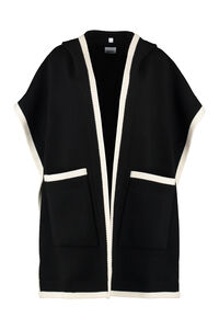 Cape with jacquard logo, Capes Burberry woman