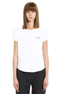 Embroidered cotton T-shirt, T-shirts Maison Labiche woman