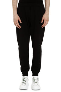 Skull patch cotton track-pants, Track Pants Alexander McQueen man