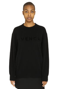 Logo cachemire pullover, Crew neck sweaters Givenchy woman