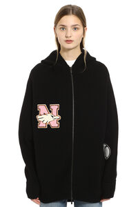 Embroidered knit blouson, Cardigan Nervure woman