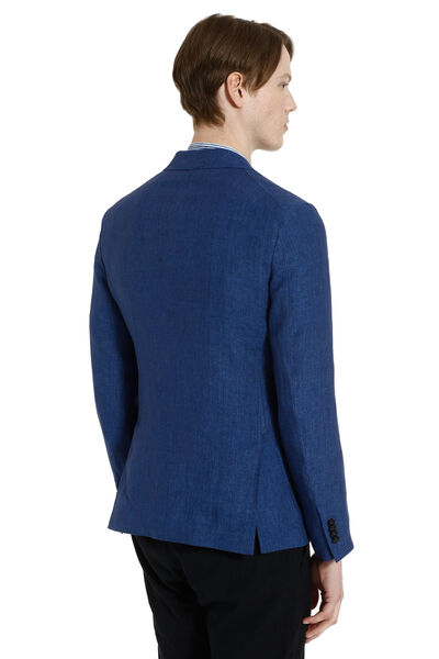 Single-breasted two buttons linen jacket