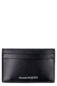 Logo detail leather card holder, Wallets Alexander McQueen man