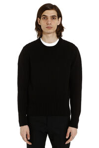 Cotton linen blend pullover, Crew necks sweaters AMI man