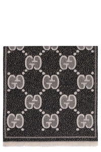 Two-tone fringed scarf, Scarves Gucci woman