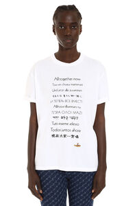 'All Together Now' crew-neck cotton T-shirt, T-shirts Stella McCartney woman