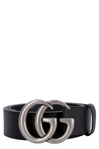 Leather belt with buckle, Belts Gucci man