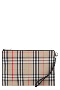 Printed flat pouch, Poches Burberry man