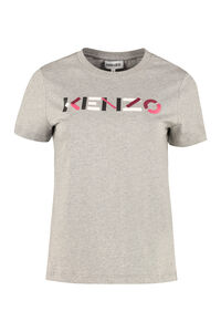 T-shirt in cotone con logo, T-shirt Kenzo woman