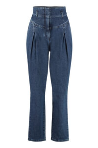 High-rise carrot-fit jeans, Straight Leg Jeans Alberta Ferretti woman