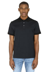 Cotton piqué polo shirt, Short sleeve polo shirts Salvatore Ferragamo man