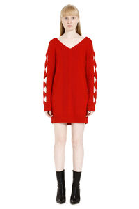 Cut-out details sweater dress, Mini dresses Boutique Moschino woman