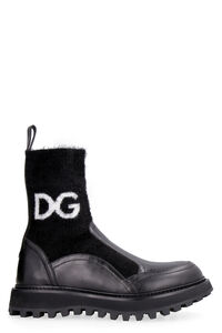 Logo detail leather booties, Ankle Boots Dolce & Gabbana woman