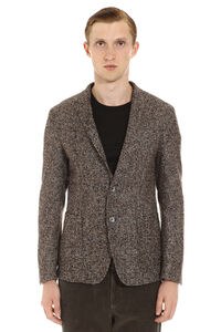 Single-breasted blend cotton blazer, Single breasted blazers BOSS man