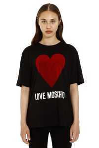 Printed oversized cotton t-shirt, T-shirts Love Moschino woman