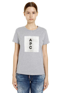 Logo print cotton t-shirt, T-shirts A.P.C. woman