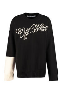Embroidered crew-neck sweater, Crew neck sweaters Off-White woman