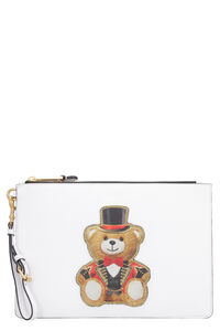Printed flat pouch, Clutch Moschino woman