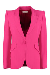Single-breasted one button jacket, Blazers Alexander McQueen woman
