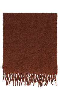 Wool scarf with fringes, Scarves Séfr man