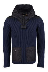 Ribbed virgin wool sweater, Hooded sweaters 1 Moncler JW Anderson man