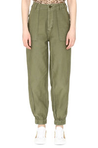 Cotton cargo-trousers, Tapered pants R13 woman