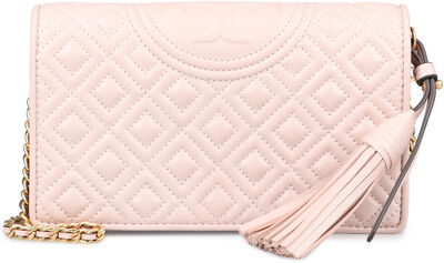 Fleming quilted leather wallet on chain