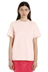 Cotton t-shirt with embroidered logo, T-shirts Alberta Ferretti woman