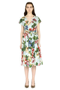 Midi dress with belt, Printed dresses Dolce & Gabbana woman