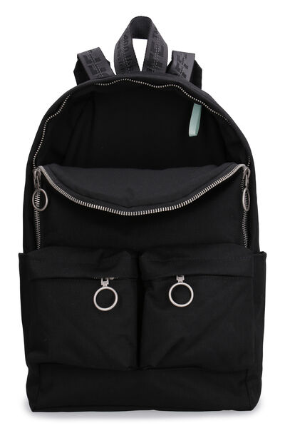 Canvas backpack with logo