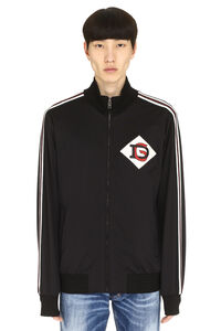 Patch detail full-zip sweatshirt, Zip through Dolce & Gabbana man