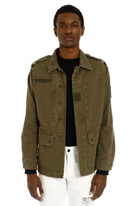 Military-style cotton gabardine jacket, Parkas Saint Laurent man