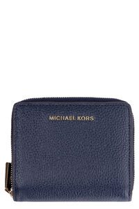 Small leather flap-over wallet, Wallets MICHAEL MICHAEL KORS woman