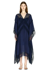 Macramé trim kaftan, Beach Dresses and Kaftans Self-Portrait woman