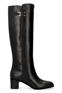 Leather boots, Knee-high Boots Salvatore Ferragamo woman