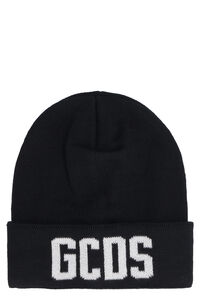 Logo knitted beanie, Hats GCDS man