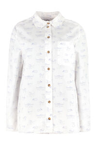 Printed cotton shirt, Shirts GANNI woman