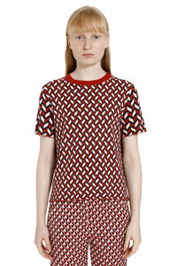 Abstract-motif knitted lurex top, Crew neck sweaters Weekend Max Mara woman