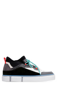 Vulcanized techno-fabric and leather sneakers, Low Top Sneakers Marcelo Burlon County of Milan man