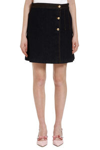Asymmetric mini skirt, Denim Skirts Tory Burch woman