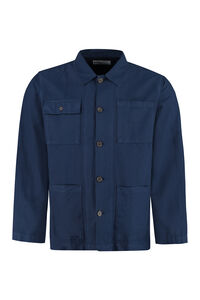 Cotton overshirt, Plain Shirts Universal Works man