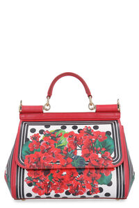 Sicily printed calf skin handbag, Top handle Dolce & Gabbana woman