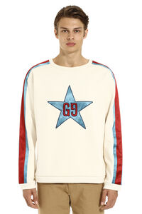 Patch detail crew-neck sweatshirt, Sweatshirts Gucci man