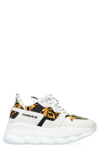 Sneakers Chain Reaction 2 in pelle, Sneakers basse Versace woman