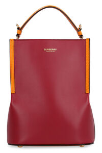 Peggy leather bucket bag, Top handle Burberry woman