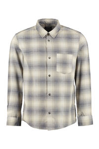 John checked overshirt, Checked Shirts A.P.C. man