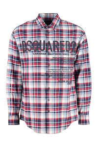 Front buttons cotton shirt, Checked Shirts Dsquared2 man