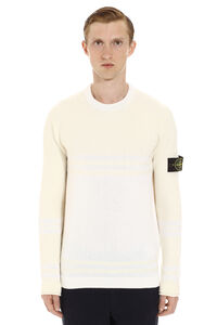 Wool-blend crew-neck sweater, Crew necks sweaters Stone Island man
